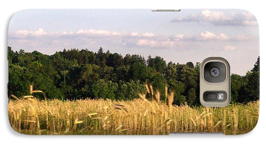 Field Galaxy S7 Case featuring the photograph Fields Of Grain by Rhonda Barrett