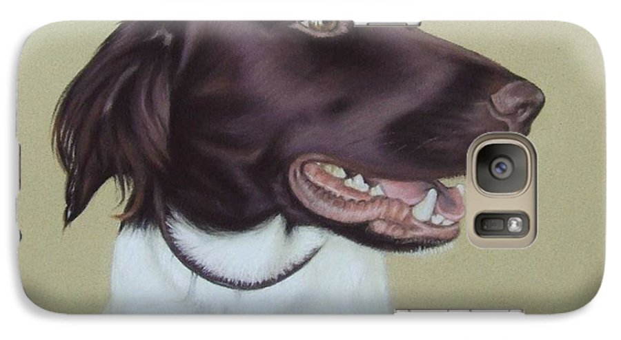 Dog Galaxy S7 Case featuring the pastel Fiete by Nicole Zeug