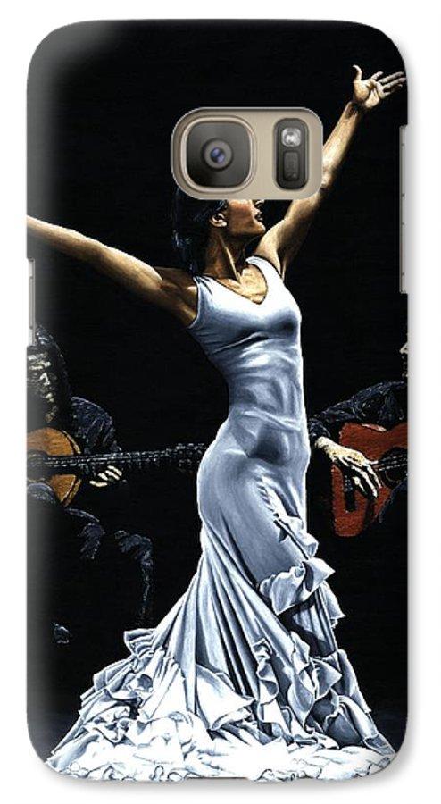 Flamenco Galaxy S7 Case featuring the painting Finale Del Funcionamiento Del Flamenco by Richard Young