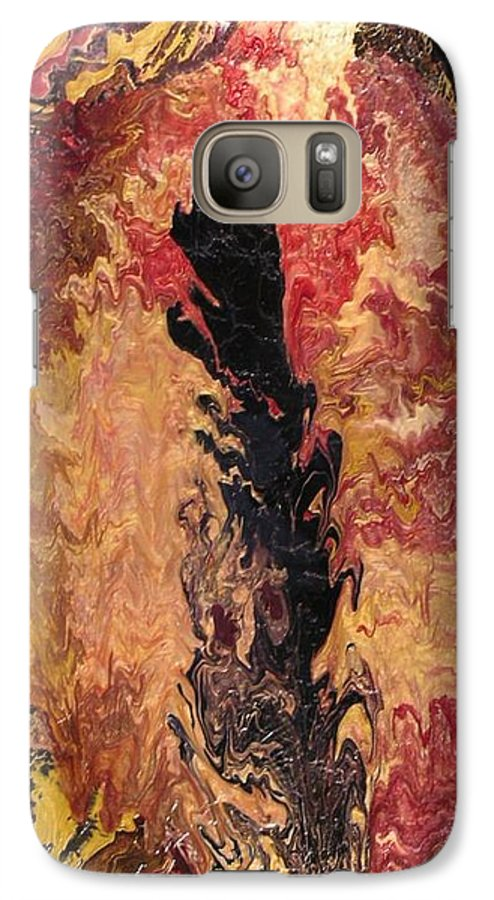 Abstract Galaxy S7 Case featuring the painting Fire - Elemental Spirit by Patrick Mock
