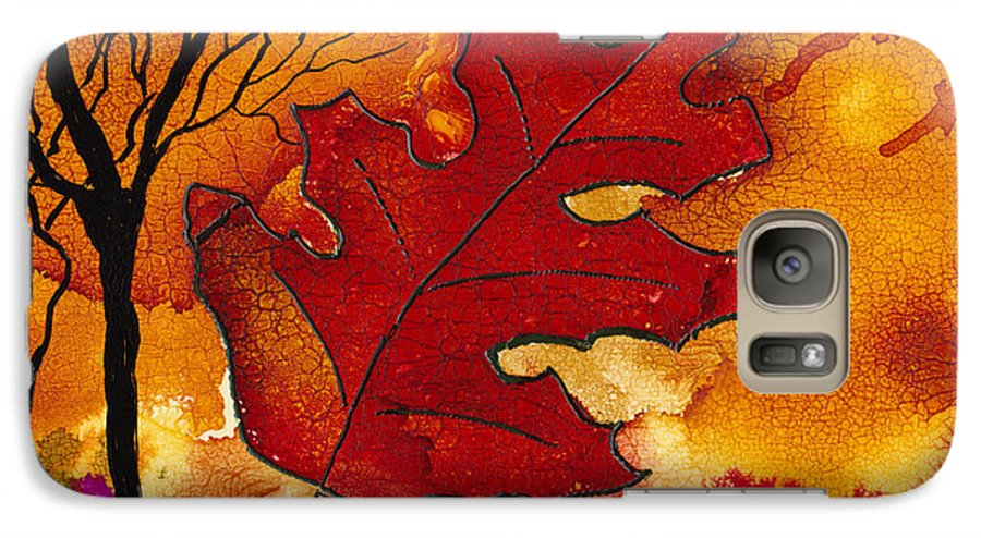 Fire Galaxy S7 Case featuring the painting Firestorm by Susan Kubes