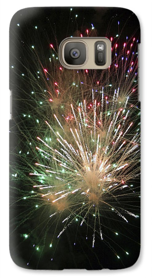 Fireworks Galaxy S7 Case featuring the photograph Fireworks by Margie Wildblood