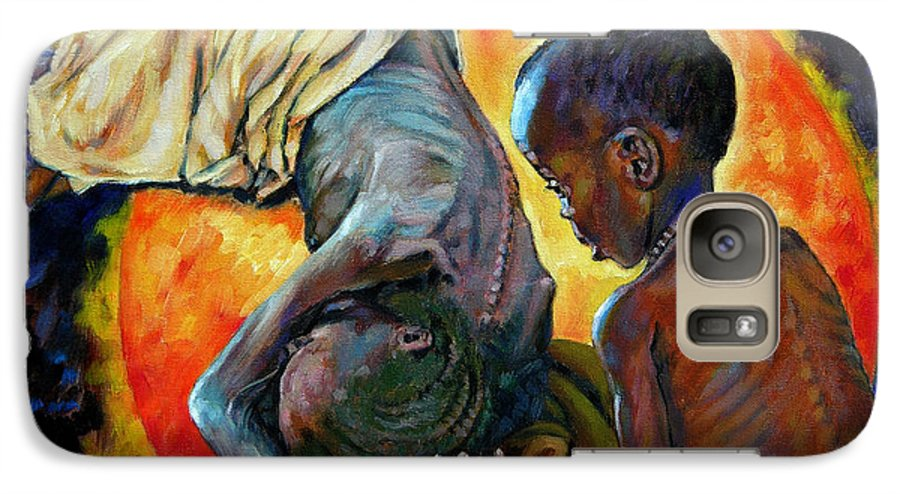 Starvation Galaxy S7 Case featuring the painting First Corinthians 1-25 by John Lautermilch