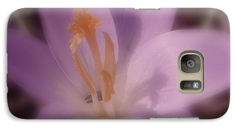 Crocus Galaxy S7 Case featuring the photograph First Flower Of Spring by Kenneth Krolikowski