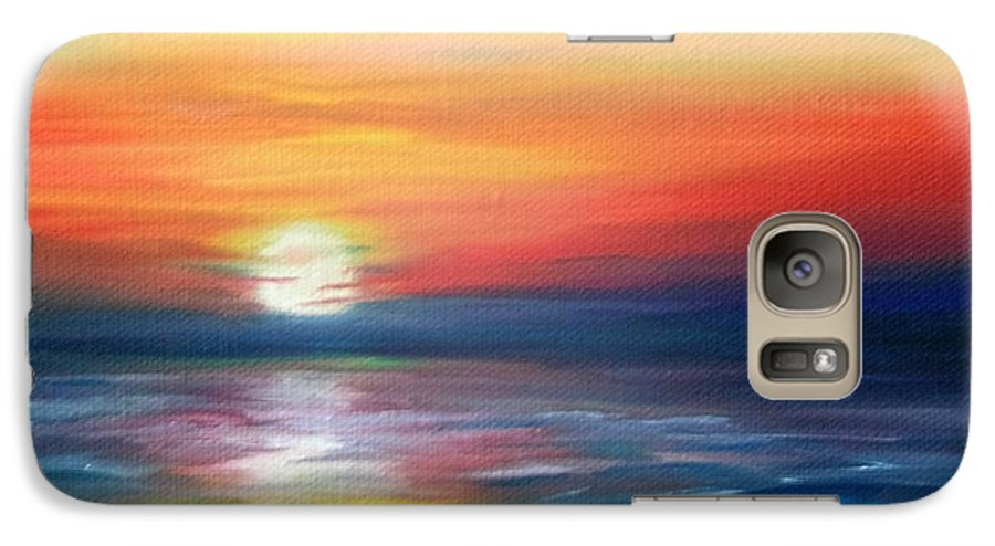 Sunrise Galaxy S7 Case featuring the painting First Light by Lora Duguay