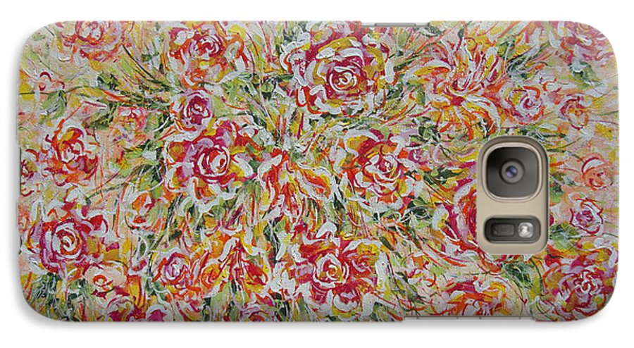 Flowers. Floral Galaxy S7 Case featuring the painting First Love Flowers by Natalie Holland