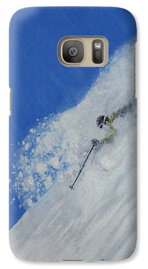 Ski Galaxy S7 Case featuring the painting First by Michael Cuozzo