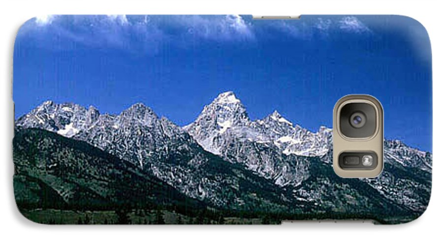 Mountains Galaxy S7 Case featuring the photograph First View Of Tetons by Kathy McClure