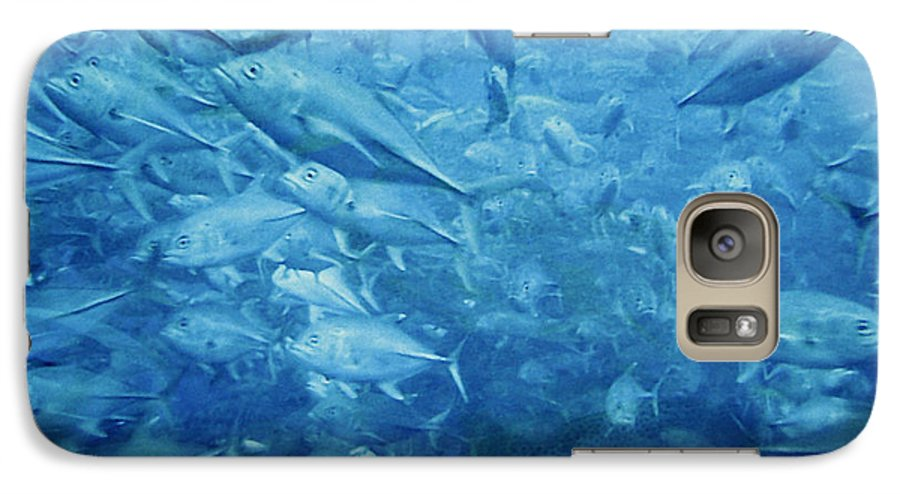 Fish Galaxy S7 Case featuring the photograph Fish Schooling Harmonious Patterns Throughout The Sea by Christine Till