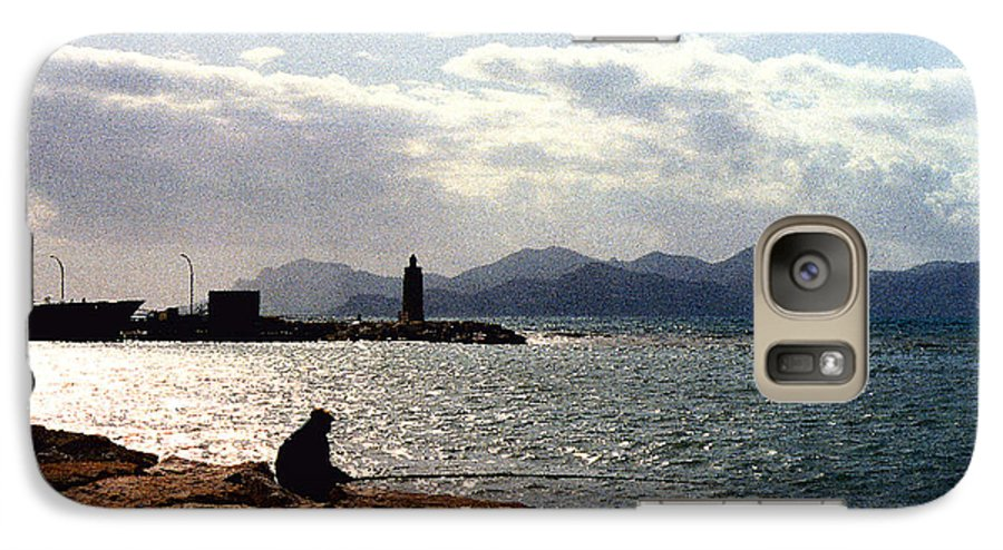 Fisherman Galaxy S7 Case featuring the photograph Fisherman In Nice France by Nancy Mueller