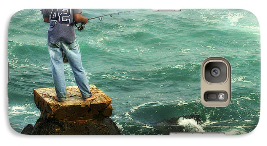 Americana Galaxy S7 Case featuring the photograph Fisherman by Marilyn Hunt
