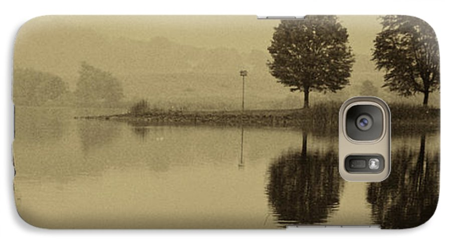 Fishing Galaxy S7 Case featuring the photograph Fishing At Marsh Creek State Park Pa. by Jack Paolini