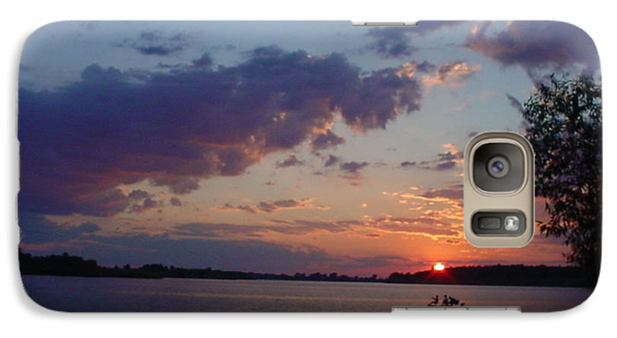 St.lawrence River Galaxy S7 Case featuring the photograph Fishing On The St.lawrence River. by Jerrold Carton