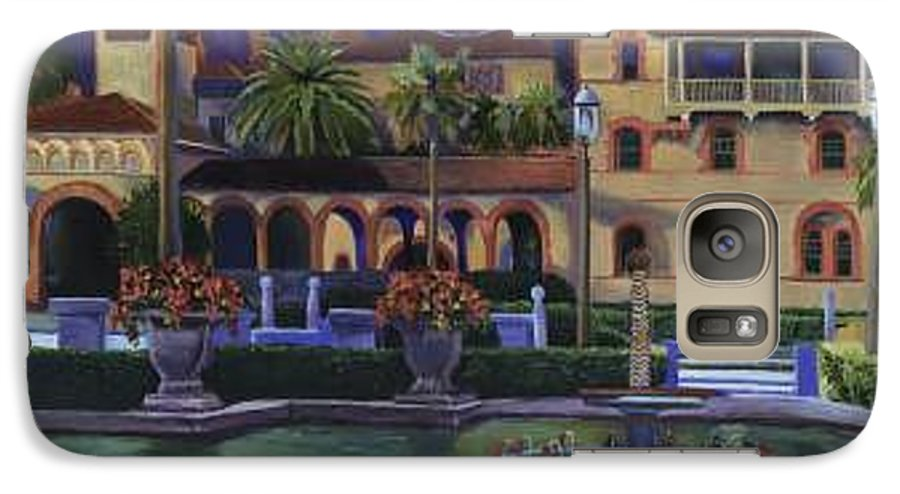 St. Augustine\'s Flagler College Campus Galaxy S7 Case featuring the painting Flagler College II by Christine Cousart