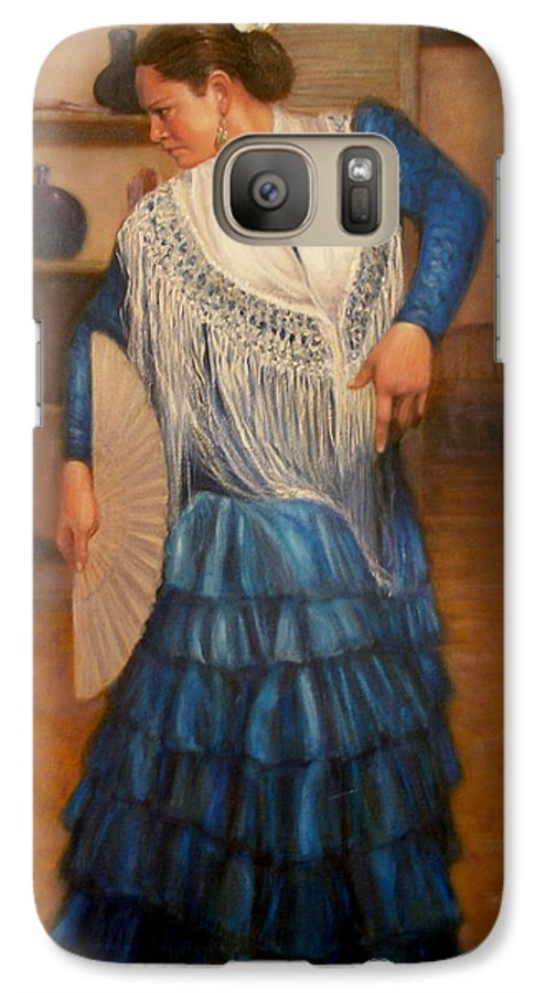 Realism Galaxy S7 Case featuring the painting Flamenco 2 by Donelli DiMaria