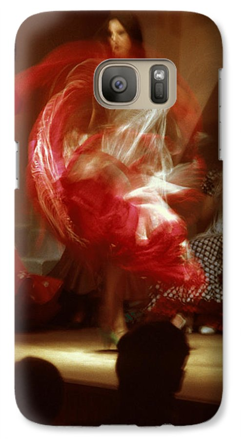 Spain Galaxy S7 Case featuring the photograph Flamenco Dancer In Seville by Carl Purcell