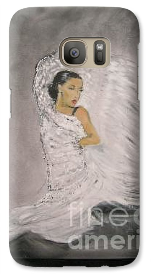 Spain Galaxy S7 Case featuring the painting Flamenco by Lizzy Forrester