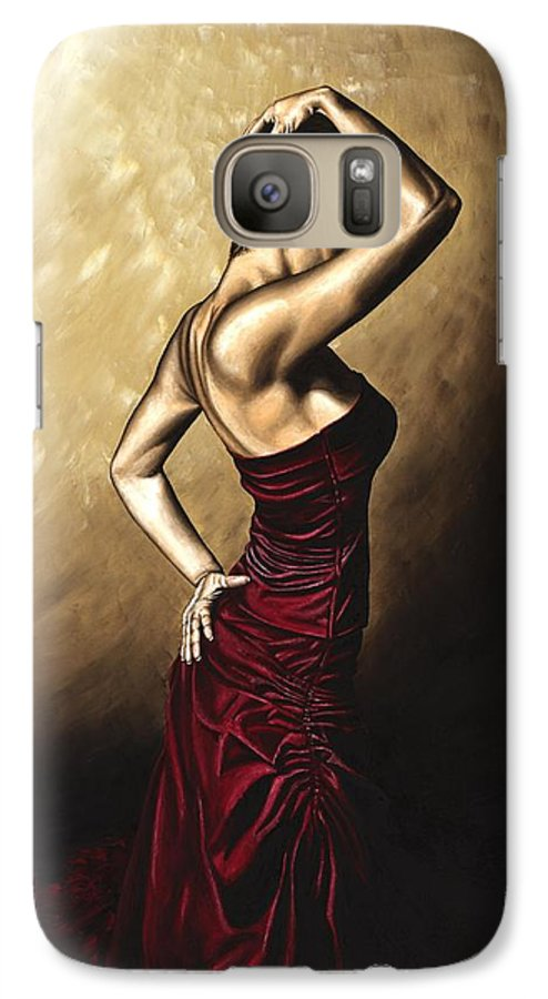 Flamenco Galaxy S7 Case featuring the painting Flamenco Woman by Richard Young