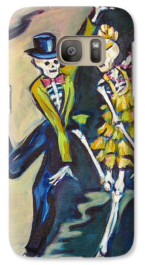 Dance Galaxy S7 Case featuring the painting Flappers by Sharon Sieben
