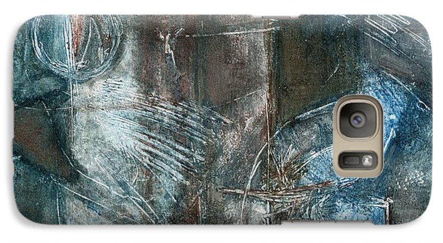 Flight Galaxy S7 Case featuring the drawing Flight Passage by Kerryn Madsen- Pietsch