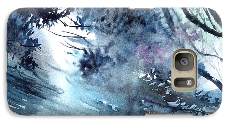 Floods Galaxy S7 Case featuring the painting Flooding by Anil Nene