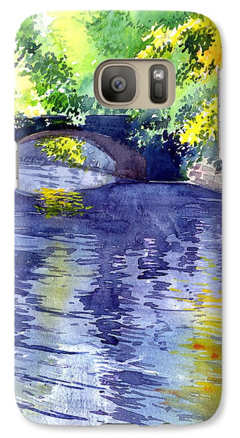 Nature Galaxy S7 Case featuring the painting Floods by Anil Nene
