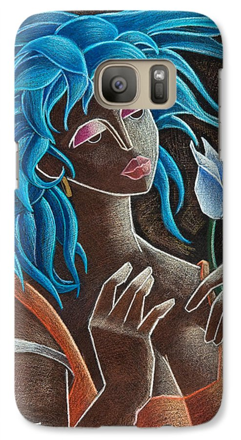 Puerto Rico Galaxy S7 Case featuring the painting Flor Y Viento by Oscar Ortiz