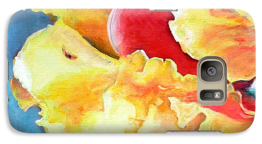 Floral Painting Galaxy S7 Case featuring the painting Floraison by Muriel Dolemieux