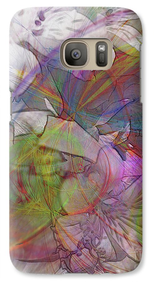 Floral Fantasy Galaxy S7 Case featuring the digital art Floral Fantasy by John Beck