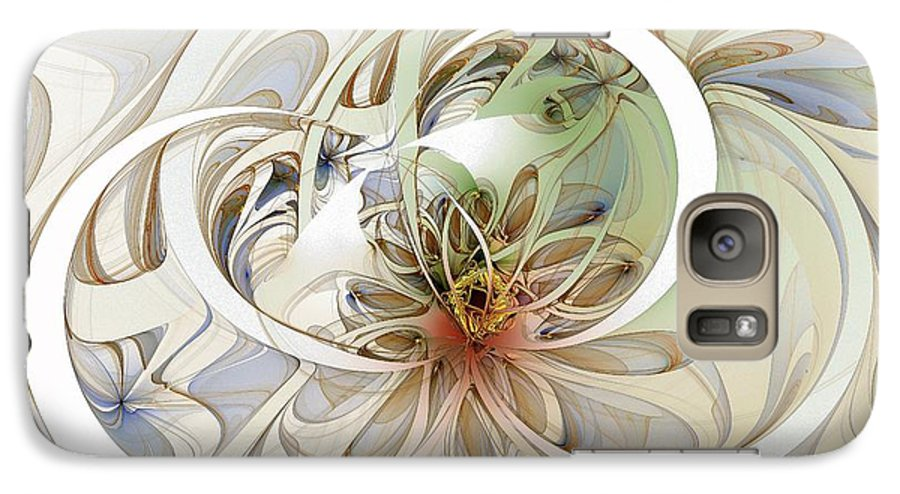 Digital Art Galaxy S7 Case featuring the digital art Floral Swirls by Amanda Moore