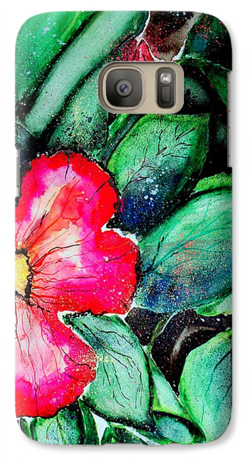 Exotic Galaxy S7 Case featuring the photograph Florida Flower by Margaret Fortunato