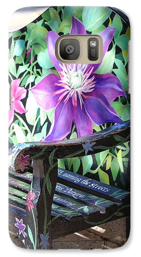Macro Galaxy S7 Case featuring the photograph Flower Bench by Rob Hans