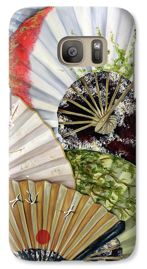 Japanese Galaxy S7 Case featuring the painting Flower Garden by Hiroko Sakai