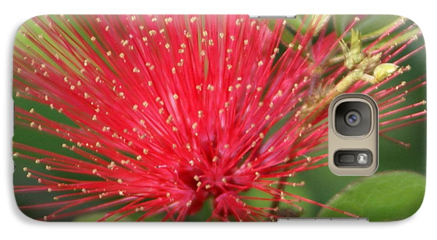 Surrealism Galaxy S7 Case featuring the painting Flower Optics 2 by Debbie May
