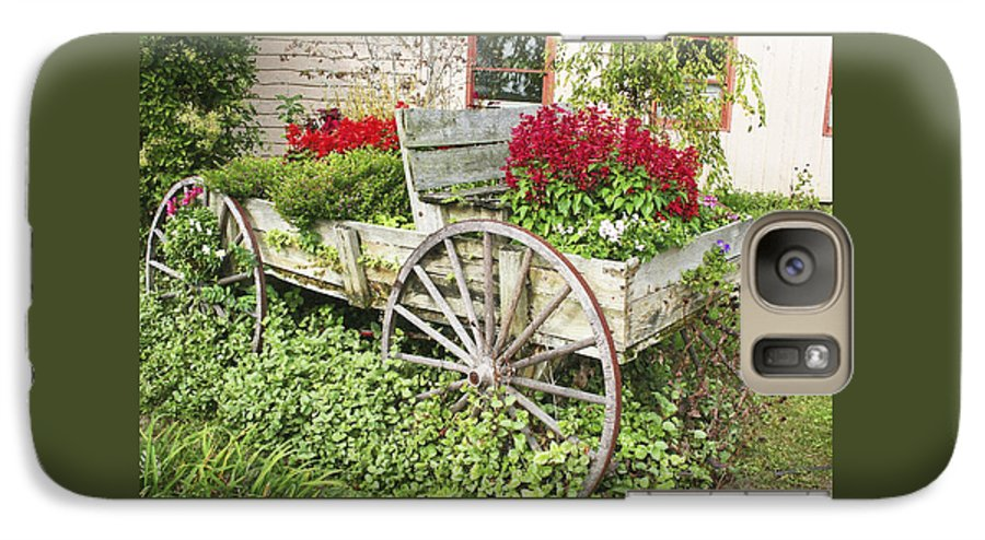 Wagon Galaxy S7 Case featuring the photograph Flower Wagon by Margie Wildblood