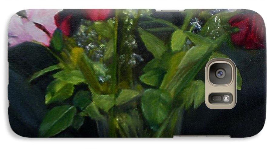 Flowers Galaxy S7 Case featuring the painting Flowers For Sarah by Sheila Mashaw