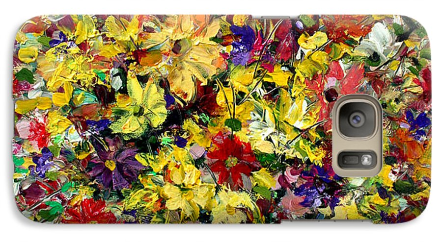 Flowers Galaxy S7 Case featuring the painting Flowers by Mario Zampedroni