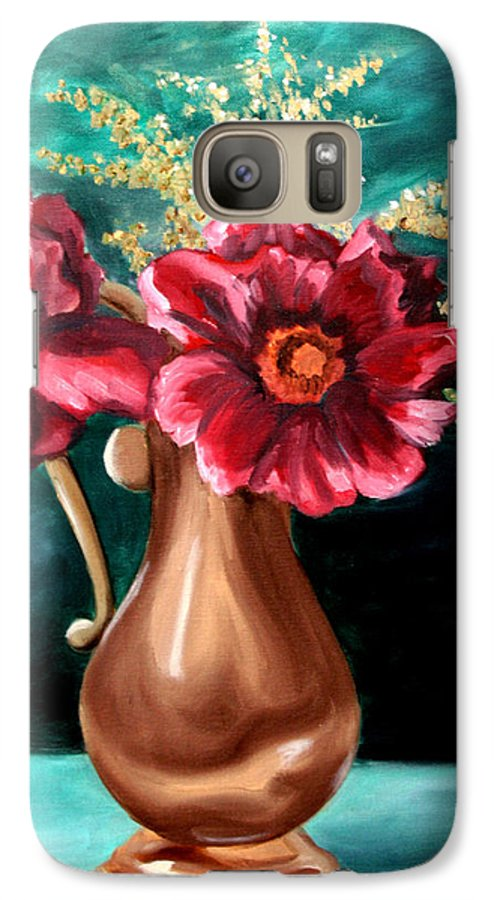 Flower Galaxy S7 Case featuring the painting Flowers by Maryn Crawford
