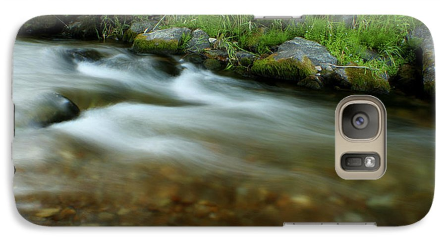 River Galaxy S7 Case featuring the photograph Flowing by Idaho Scenic Images Linda Lantzy