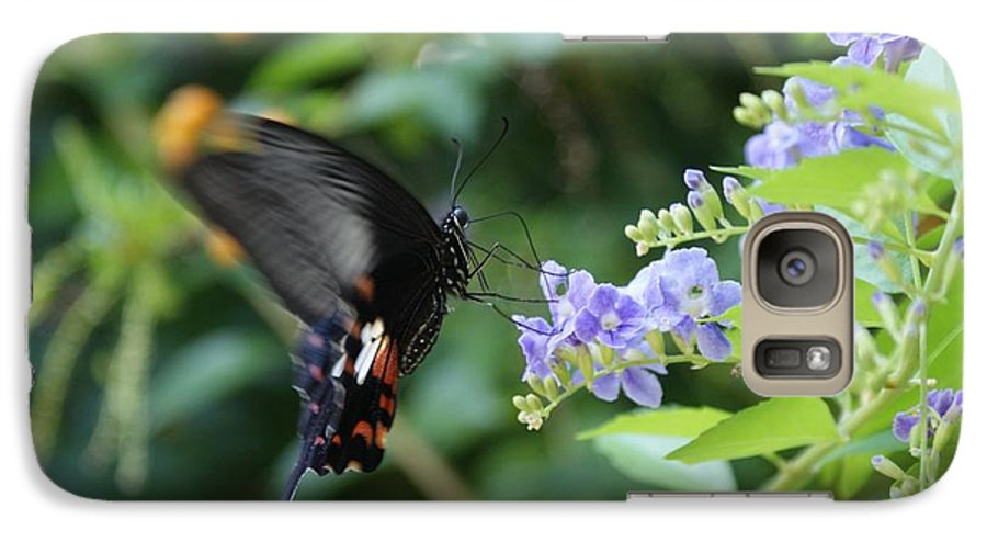 Butterfly Galaxy S7 Case featuring the photograph Fly In Butterfly by Shelley Jones