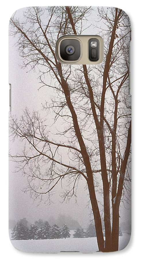 Nature Galaxy S7 Case featuring the photograph Foggy Morning Landscape 13 by Steve Ohlsen
