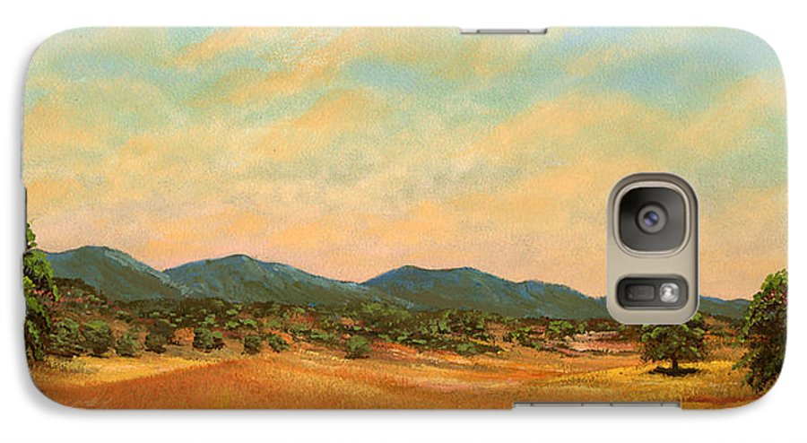 Landscape Galaxy S7 Case featuring the painting Foothills by Frank Wilson