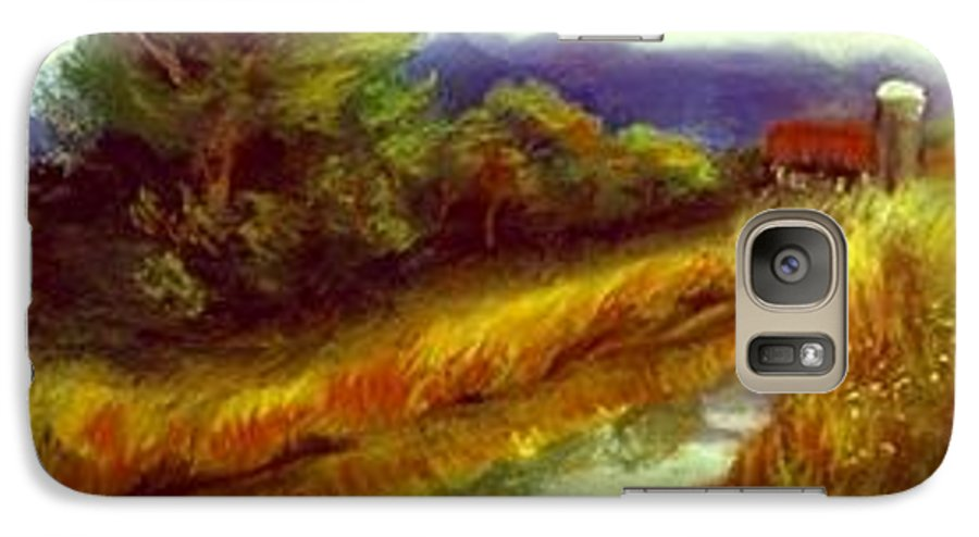 Landscape Galaxy S7 Case featuring the painting For A Thirsty Land by Gail Kirtz