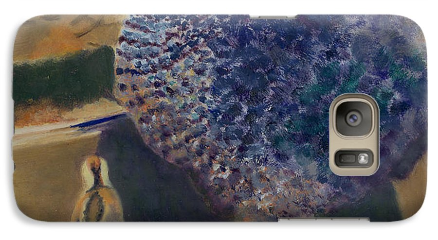 Animal Galaxy S7 Case featuring the painting For The Birds by Paula Emery