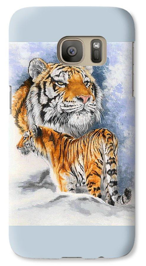 Big Cats Galaxy S7 Case featuring the mixed media Forceful by Barbara Keith