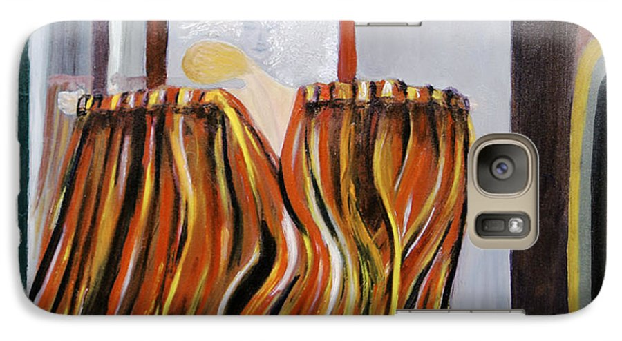 Figurative Galaxy S7 Case featuring the painting Forces by Olga Alexeeva