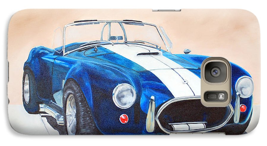 Car Galaxy S7 Case featuring the painting Ford Cobra In Oil by Margaret Fortunato