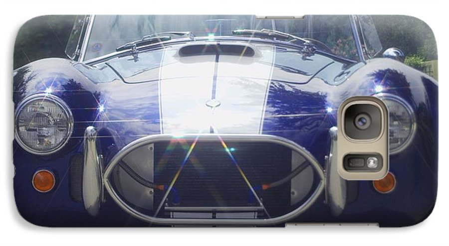 Speed Galaxy S7 Case featuring the photograph Ford Cobra by Margaret Fortunato