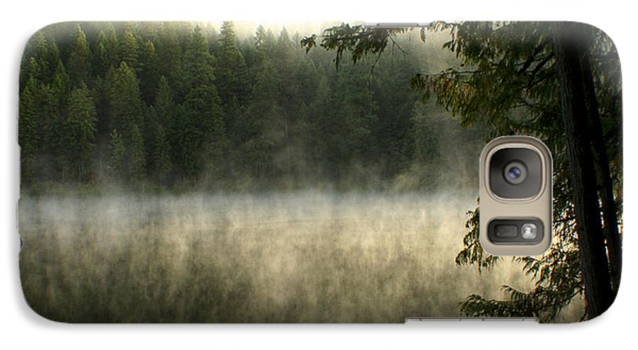 Fog Galaxy S7 Case featuring the photograph Forest And Fog by Idaho Scenic Images Linda Lantzy