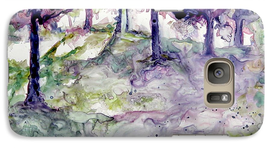 Fastasy Galaxy S7 Case featuring the painting Forest Fantasy by Jan Bennicoff